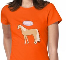 Neigh! Palomino Womens Fitted T-Shirt