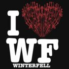"I Love WF ""winterfell"" [Black Tee] by tartuff"