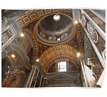 Inside St. Peter's Basilica #2 Poster