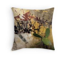 Graffiti and the Cactus in Lecce Throw Pillow