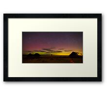 Aurora over Nidderdale Cemetery Yorkshire Dales Framed Print