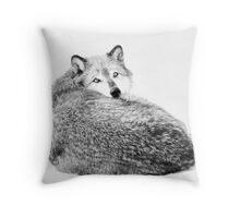 Snug In The Snow Throw Pillow