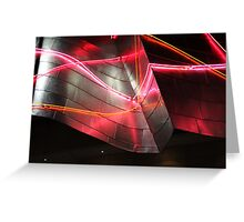 Neon, Disney Concert Hall, Frank Gehry Greeting Card