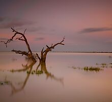 Menindee sunset by donnnnnny