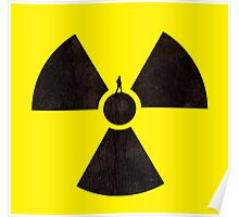 A man standing on a radioactive symbol Poster