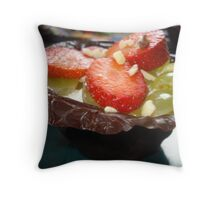 Chocolate & fruit Throw Pillow