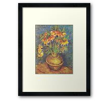 Crown Imperials in a Copper Vase by Vincent van Gogh Framed Print