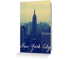 Empire State Circular Greeting Card