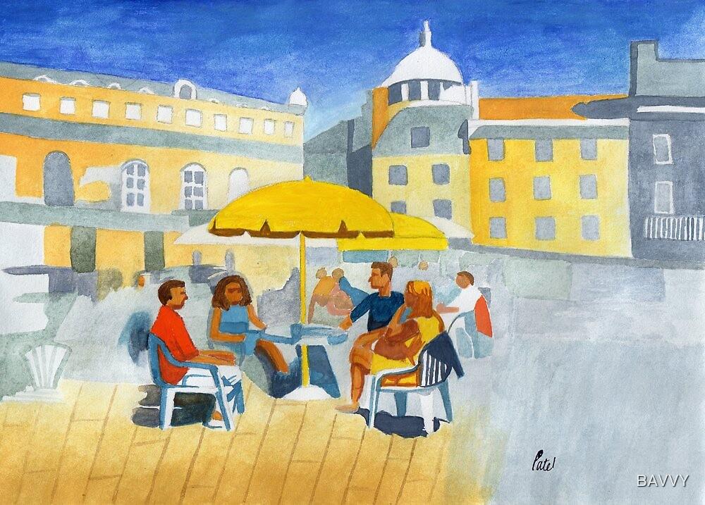Sunlit Café Scene by BAVVY