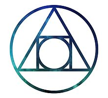 Alchemical Philosophers Stone Glyph, Blue Space by SuperConnected