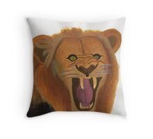 The Lion's Roar Throw Pillow