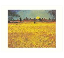 Wheat Fields Near Arles by Vincent van Gogh Art Print