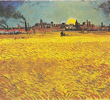 Wheat Fields Near Arles by Vincent van Gogh by Robert Partridge