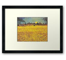 Wheat Fields Near Arles by Vincent van Gogh Framed Print