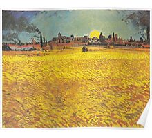Wheat Fields Near Arles by Vincent van Gogh Poster