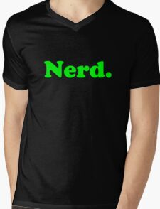 Nerd. Mens V-Neck T-Shirt