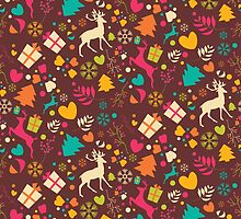 Christmas pattern 02 by BlueLela