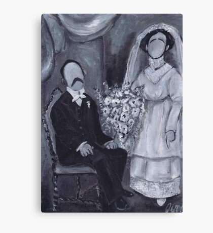 Zombie wedding Canvas Print