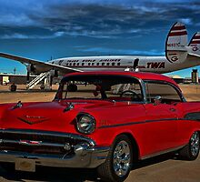 1957 Chevrolet Bel Air - Lockheed Constellation Super G by TeeMack