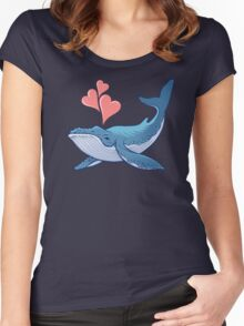 Whale Love! Women's Fitted Scoop T-Shirt