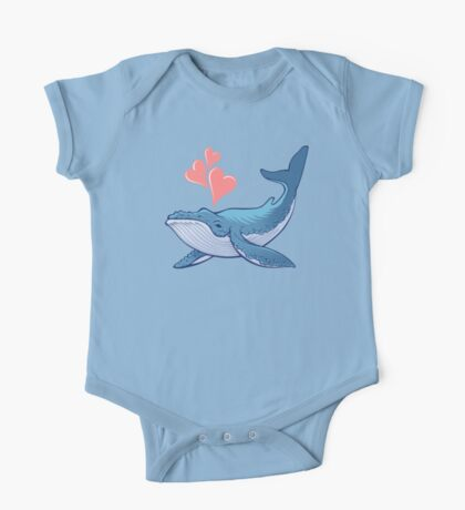 Whale Love! One Piece - Short Sleeve