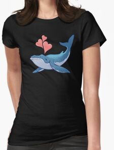 Whale Love! Womens Fitted T-Shirt
