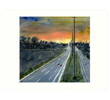 Eastern Freeway Sunset Art Print