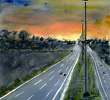 Eastern Freeway Sunset by rjpmcmahon