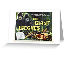 Giant Leeches Greeting Card