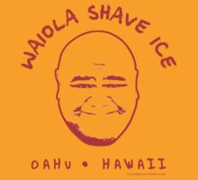 Hawaii 5-0 Waiola Shave Ice Logo (Red) by Sharknose