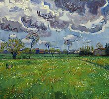 Landscape Under a Stormy Sky by Vincent van Gogh by Robert Partridge