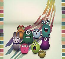 I Love Monsters by designholic