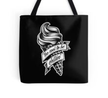 Too Cool... black and white Tote Bag