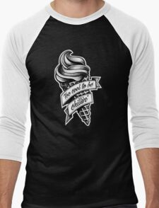Too Cool... black and white Men's Baseball ¾ T-Shirt