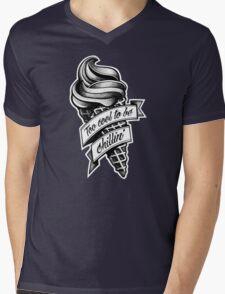 Too Cool... black and white Mens V-Neck T-Shirt