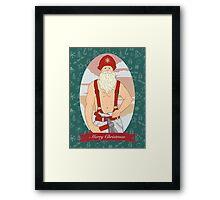 Santa Fireman Framed Print