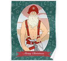 Santa Fireman Poster