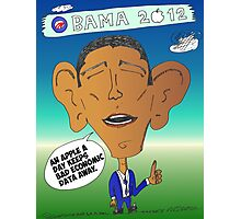 Binary Options News Cartoon President Obama and Apple Photographic Print