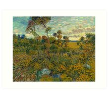 Sunset at Montmajour by Vincent van Gogh Art Print