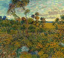 Sunset at Montmajour by Vincent van Gogh by Robert Partridge