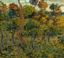 Sunset at Montmajour by Vincent van Gogh Sticker