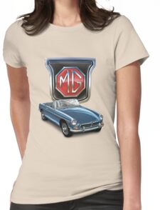 MGB in Blue Womens Fitted T-Shirt