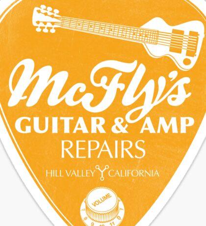 McFly's Repairs - Orange Sticker