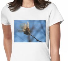 Blue Sky Magnolia Blossom - Dreaming of Spring Womens Fitted T-Shirt