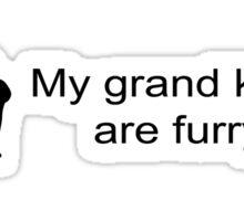 My Grandkids are Furry (Rabbit)  Sticker