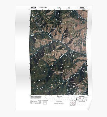 USGS Topo Map Washington State WA Hungry Mountain 20110427 TM Poster