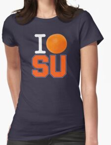 I Heart ( LOVE ) SU - Orangemen - Blue Womens Fitted T-Shirt