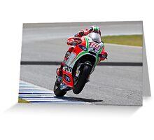 Nicky Hayden in Jerez 2012 Greeting Card