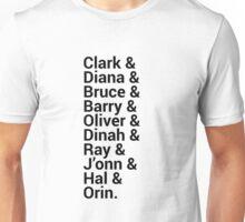 Justice League Names Unisex T-Shirt