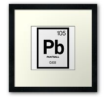 Periodic Paintball Framed Print